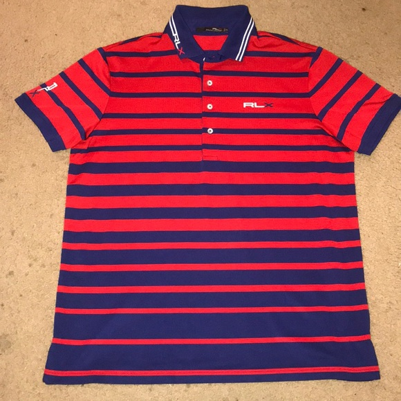 Men\u0027s Ralph Lauren RLX Golf Striped Polo Shirt XL